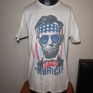 Lincoln 'Murica Shirt - Trump, Maga, USA, Flag